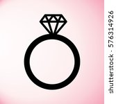 wedding or engagement ring with ... | Shutterstock .eps vector #576314926