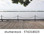 Wooden Boardwalk  Facing An...