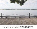 Wooden Boardwalk  Facing An...