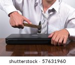 angry business man has problem | Shutterstock . vector #57631960