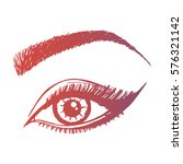 illustration with woman's eye... | Shutterstock .eps vector #576321142