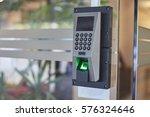 electronic door access control... | Shutterstock . vector #576324646