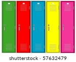 set of colorful lockers | Shutterstock .eps vector #57632479