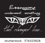 everyone underwent something... | Shutterstock .eps vector #576325828