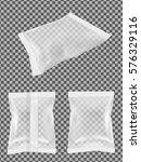 transparent blank foil food... | Shutterstock .eps vector #576329116