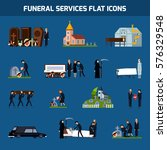 colored and isolated funeral... | Shutterstock .eps vector #576329548