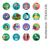 narcotic round icons collection ... | Shutterstock .eps vector #576331156