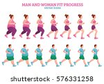 colored fitness stages... | Shutterstock .eps vector #576331258