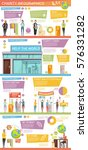 charity infographics layout...   Shutterstock .eps vector #576331282