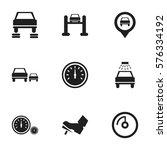 set of 9 editable transport... | Shutterstock . vector #576334192