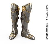 iron fantasy high boots knight...
