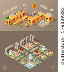 build your own city . set of... | Shutterstock .eps vector #576339382