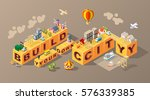 build your own city . set of... | Shutterstock .eps vector #576339385