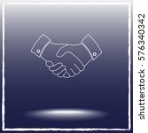 handshake sign icon  vector... | Shutterstock .eps vector #576340342