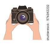 camera photographic isolated...   Shutterstock .eps vector #576342232