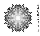 ornament card with mandala.... | Shutterstock .eps vector #576354466