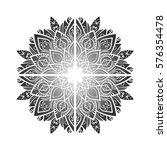 ornament card with mandala.... | Shutterstock .eps vector #576354478
