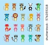 cute animals vector set | Shutterstock .eps vector #576355318