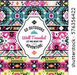 art aztec colorful pattern for... | Shutterstock .eps vector #576356422