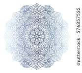highly detailed mandala. hand... | Shutterstock .eps vector #576357532
