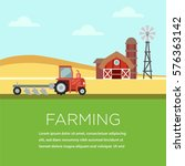 farming illustration poster in... | Shutterstock .eps vector #576363142
