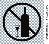 no alcohol vector icon  on... | Shutterstock .eps vector #576363592
