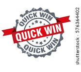 quick win stamp.sign.seal.logo... | Shutterstock .eps vector #576364402