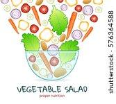 illustration of juicy vegetable ... | Shutterstock .eps vector #576364588