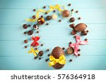 Easter Frame With Chocolate...