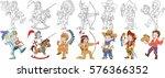 cartoon people set. collection... | Shutterstock .eps vector #576366352