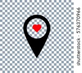 heart location on transparent... | Shutterstock .eps vector #576370966