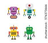 robot character vector... | Shutterstock .eps vector #576373666