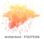 abstract red watercolor on... | Shutterstock . vector #576375106