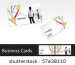 abstract business cards with... | Shutterstock .eps vector #57638110