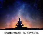 yoga as physical and spiritual... | Shutterstock . vector #576396346