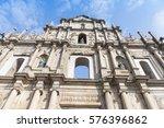 ruins of st. paul's church  a... | Shutterstock . vector #576396862