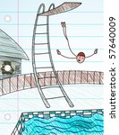 stick figure high dive   vector ... | Shutterstock .eps vector #57640009