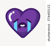 funny cartoon heart with... | Shutterstock .eps vector #576405112
