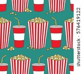 collection of popcorn and... | Shutterstock .eps vector #576419122
