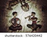 vintage traditional texture  | Shutterstock . vector #576420442