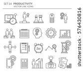big set symbols of productivity.... | Shutterstock .eps vector #576430816