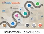 design template  road map...   Shutterstock .eps vector #576438778