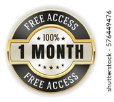 gold 1 month free access badge  ... | Shutterstock .eps vector #576449476