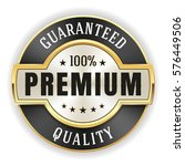 gold premium quality badge  ... | Shutterstock .eps vector #576449506