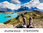 Legs Of Traveler Sitting On A...