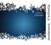 christmas border  snowflake... | Shutterstock .eps vector #576454426