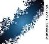 christmas border  snowflake... | Shutterstock . vector #576454726