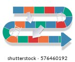 road variety of colors in the...   Shutterstock .eps vector #576460192