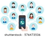 people and network... | Shutterstock .eps vector #576473536
