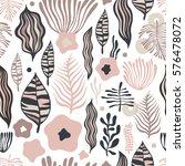 vector flower pattern. seamless ...   Shutterstock .eps vector #576478072